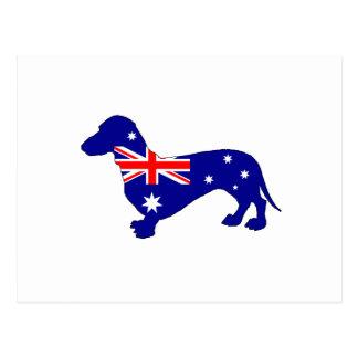 Postal Bandera australiana - Dachshund
