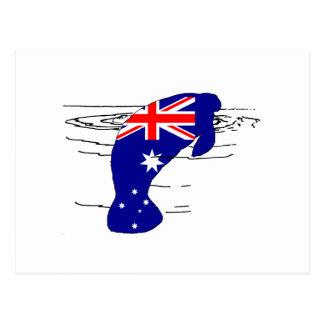 Postal Bandera australiana - Manatee