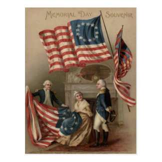 Postal Bandera Betsy Ross George Washington de los