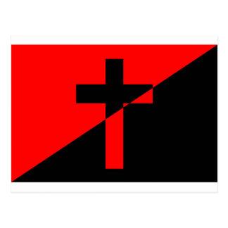 Postal Bandera cristiana del cristianismo de la anarquía