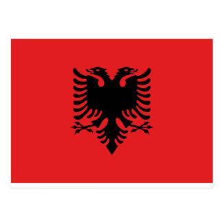 Postal Bandera de Albania