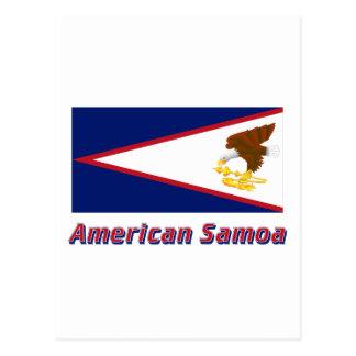 Postal Bandera de American Samoa con nombre