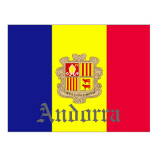 Postal Bandera de Andorra
