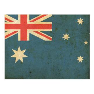 Postal Bandera de Australia del vintage