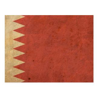 Postal Bandera de Bahrein del vintage