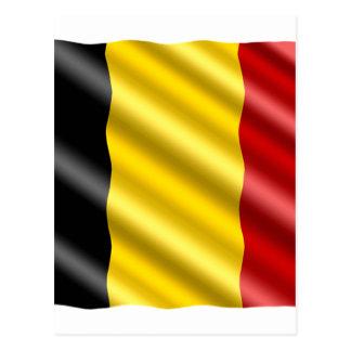 Postal Bandera de Bélgica
