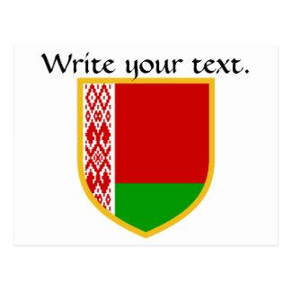 Postal Bandera de Bielorrusia