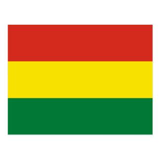 Postal Bandera de Bolivia