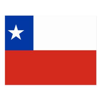 Postal Bandera de Chile