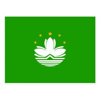 Postal Bandera de China Macao
