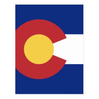 Postal Bandera de Colorado