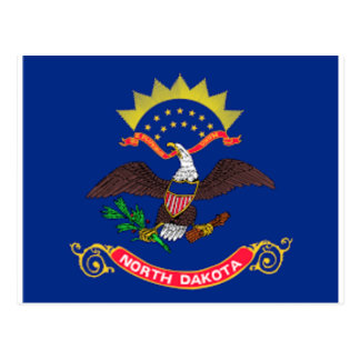 Postal Bandera de Dakota del Norte