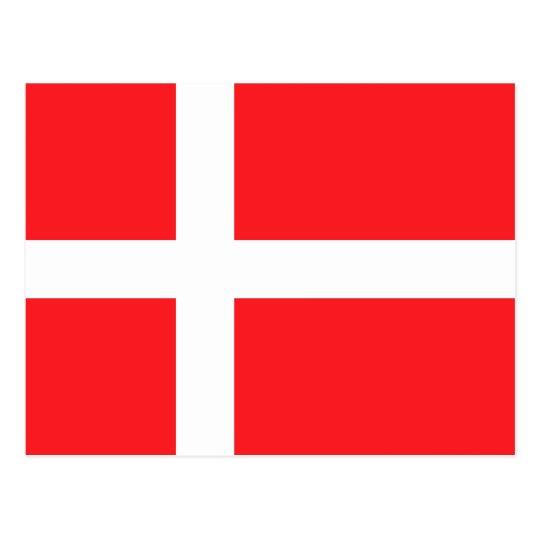 Postal Bandera de Dinamarca