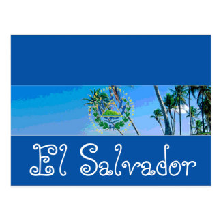 Postal Bandera de El Salvador