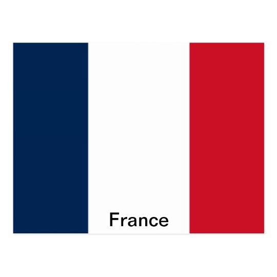 Postal Bandera de Francia