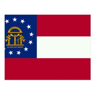 Postal Bandera de Georgia