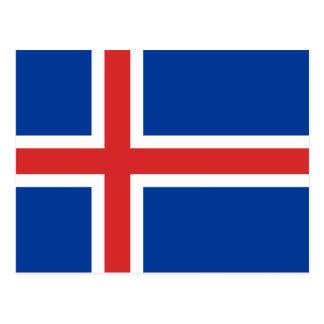Postal Bandera de Islandia