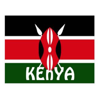 Postal Bandera de Kenia