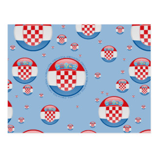 Postal Bandera de la burbuja de Croacia