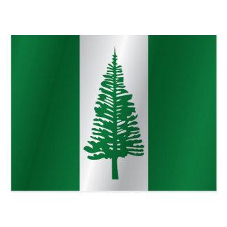 Postal Bandera de la isla de Norfolk