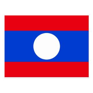 Postal Bandera de Laos