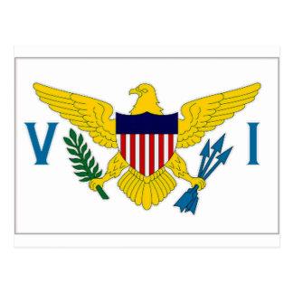 Postal Bandera de las Islas Vírgenes
