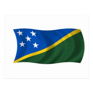 Postal Bandera de los Solomon Island