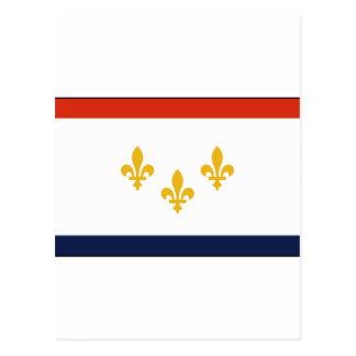 Postal Bandera de New Orleans