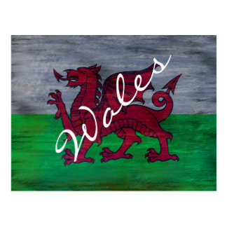 Postal Bandera de País de Gales - la bandera Galés -