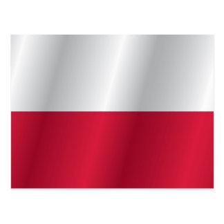 Postal Bandera de Polonia