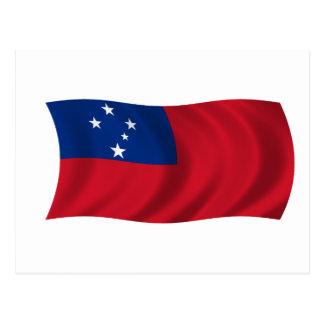 Postal Bandera de Samoa