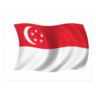 Postal Bandera de Singapur