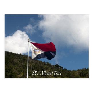 Postal Bandera de St. Maarten
