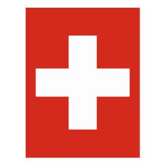 Postal Bandera de Suiza - muere el der Schwe de