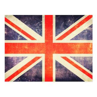 Postal Bandera de Union Jack del vintage