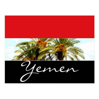 Postal Bandera de Yemen