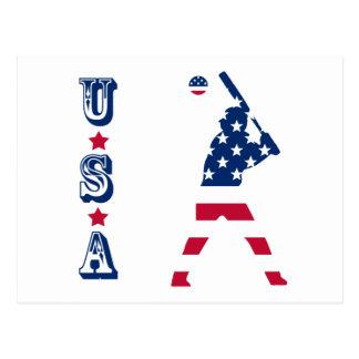 Postal Bandera del americano del béisbol de América