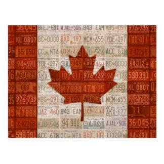 Postal Bandera del arte de la placa de Canadá