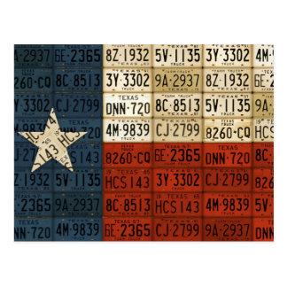 Postal Bandera del arte solitario de la placa del estado