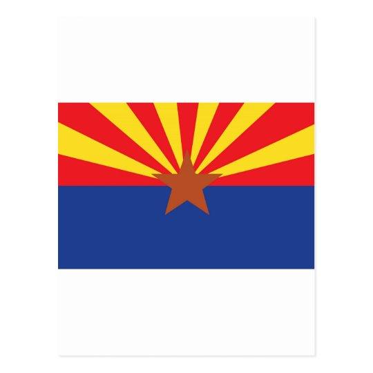 Postal Bandera del estado de Arizona