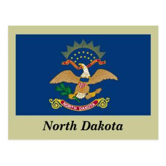 Postal Bandera del estado de Dakota del Norte