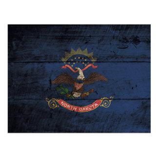 Postal Bandera del estado de Dakota del Norte en grano de