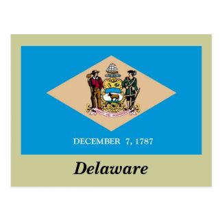 Postal Bandera del estado de Delaware