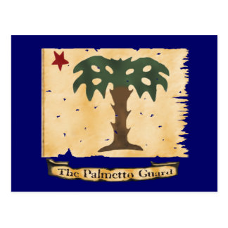 Postal Bandera del guardia del Palmetto