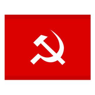 Postal Bandera del martillo y de la hoz de URSS del ruso