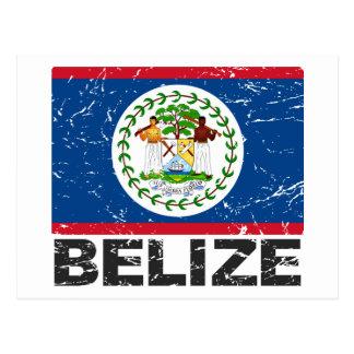 Postal Bandera del vintage de Belice