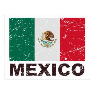 Postal Bandera del vintage de México
