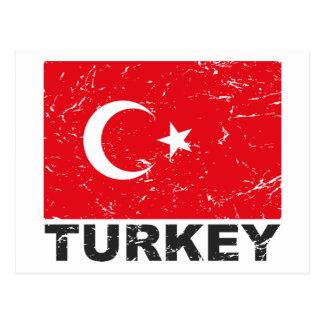 Postal Bandera del vintage de Turquía