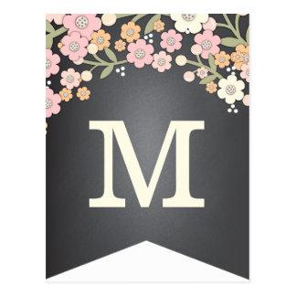 Postal Bandera floral del empavesado de la bandera DIY