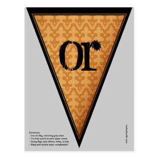 Postal Bandera gótica del empavesado de la bandera de